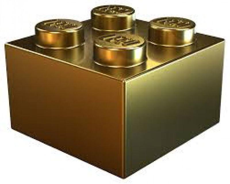 mattoncino lego d'oro